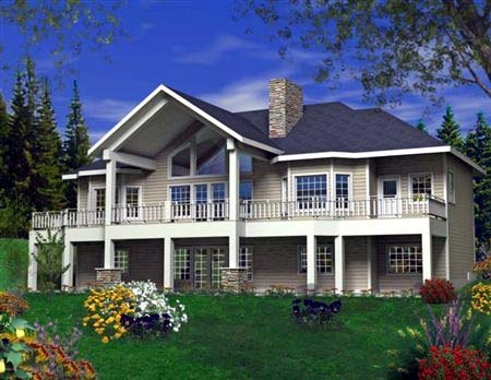 Hillside House Plan 85819