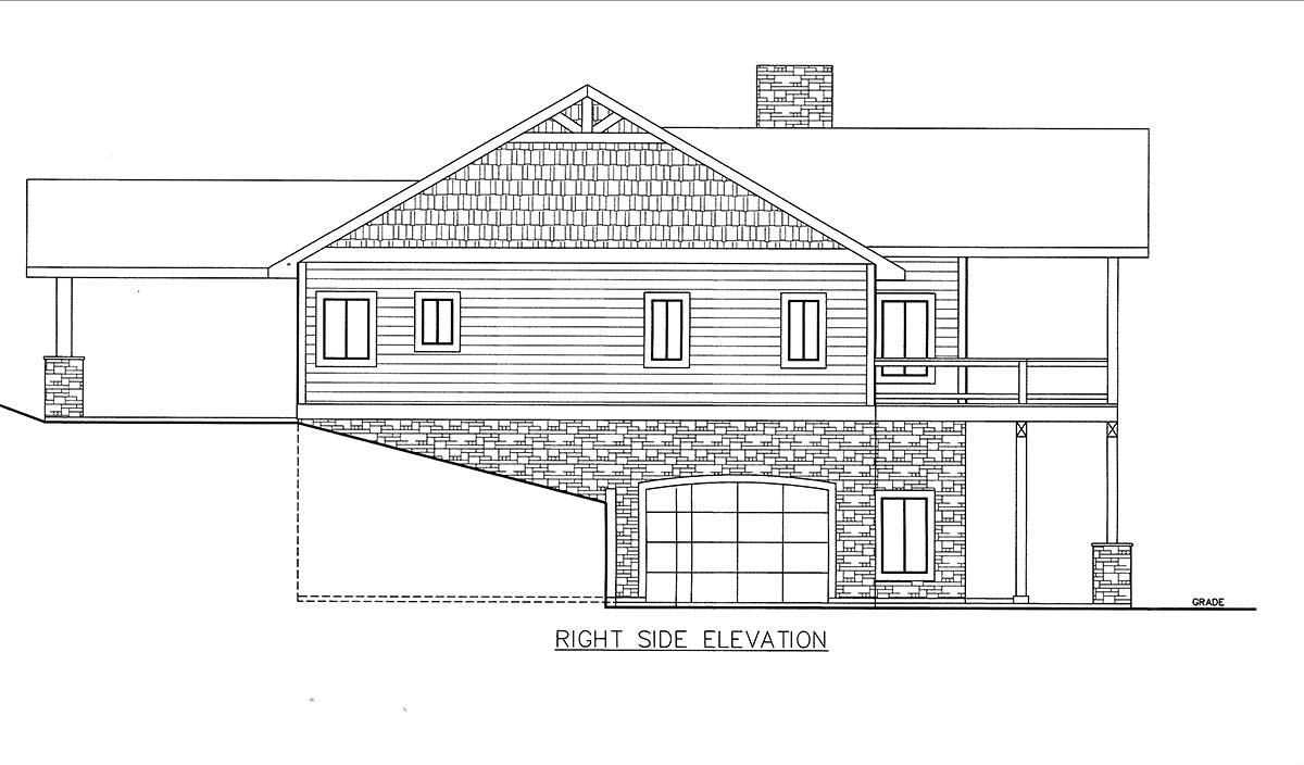 House Plan 85835 with 4 Beds, 4 Baths, 2 Car Garage Picture 1