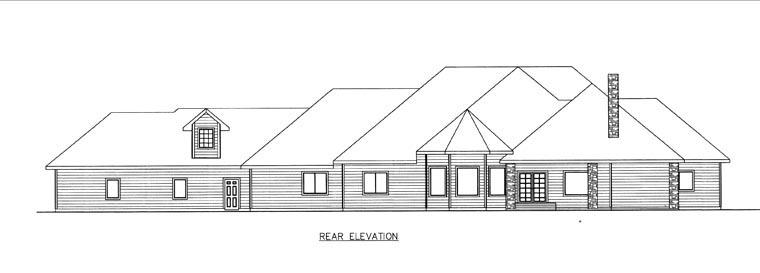 House Plan 85844 Rear Elevation