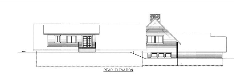 House Plan 85847 with 3 Beds, 3 Baths, 3 Car Garage Rear Elevation