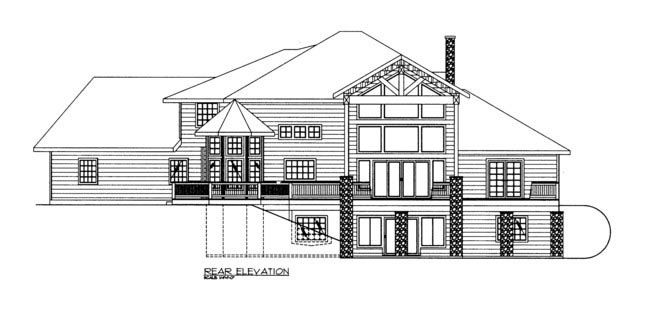 Contemporary House Plan 85886 Rear Elevation