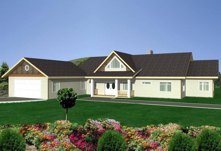 House Plan 85890 Elevation