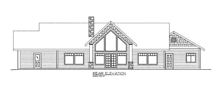 House Plan 85890 Rear Elevation