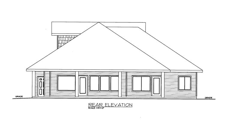 Contemporary House Plan 85896 Rear Elevation