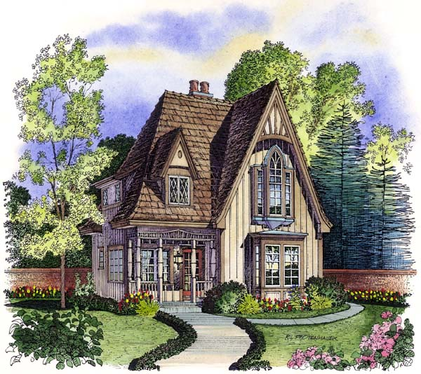 Bungalow Victorian House Plan 86000 Elevation
