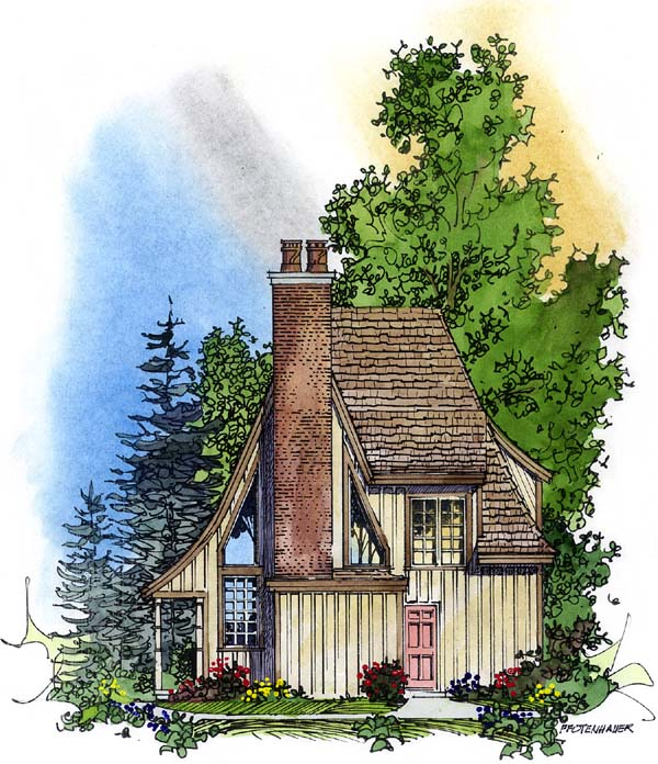 Bungalow Victorian House Plan 86000 Rear Elevation