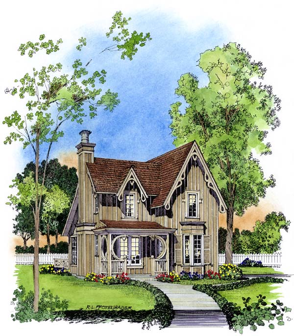 Bungalow Victorian House Plan 86001 Elevation