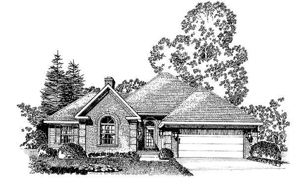 European House Plan 86006 Elevation