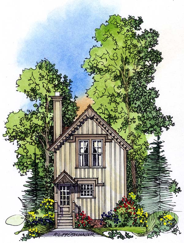 Country Southern House Plan 86008 Rear Elevation
