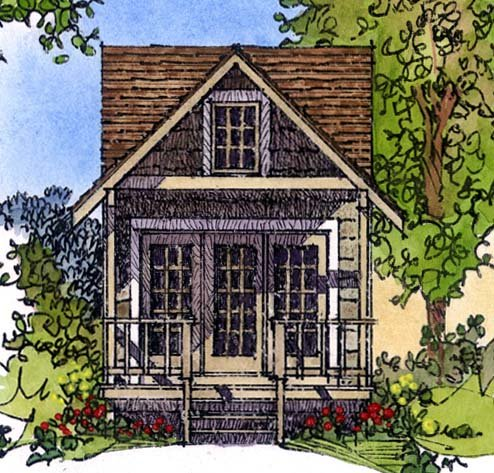 Cabin Craftsman House Plan 86025 Elevation