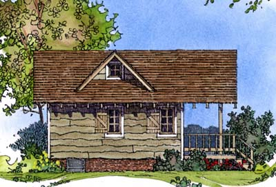 Cabin Craftsman House Plan 86025 Rear Elevation