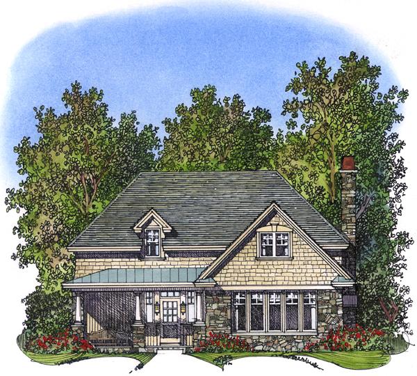 Bungalow Craftsman House Plan 86029 Elevation