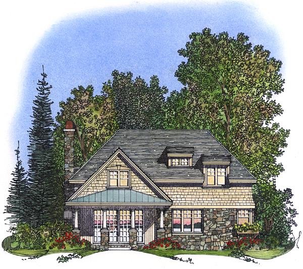 Bungalow Craftsman House Plan 86029 Rear Elevation