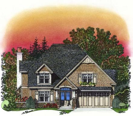 Traditional Elevation of Plan 86042