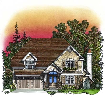 Traditional Elevation of Plan 86043