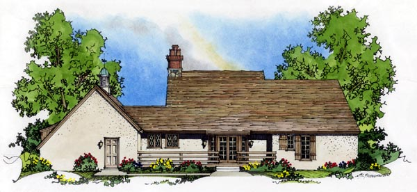 Country European House Plan 86053 Rear Elevation