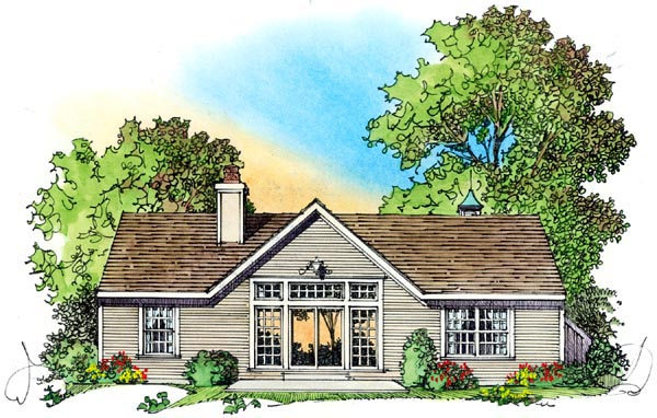 European Ranch Traditional House Plan 86065 Rear Elevation