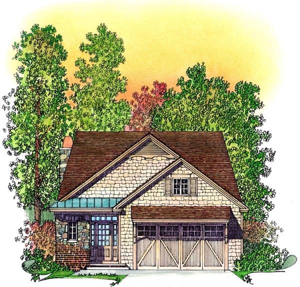 Bungalow Craftsman House Plan 86068 Elevation