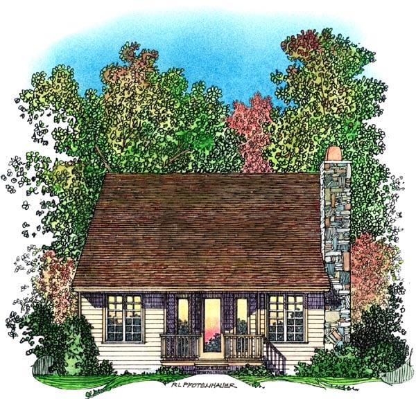 Bungalow Craftsman House Plan 86068 Rear Elevation