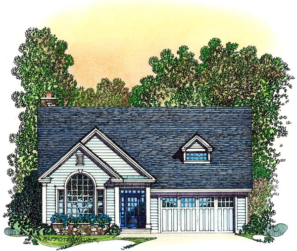 Cape Cod, Colonial, Country, Farmhouse House Plan 86071 with 3 Beds, 3 Baths, 3 Car Garage Elevation