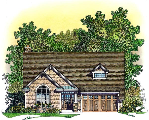 Bungalow, Craftsman House Plan 86073 with 3 Beds, 3 Baths, 3 Car Garage Elevation