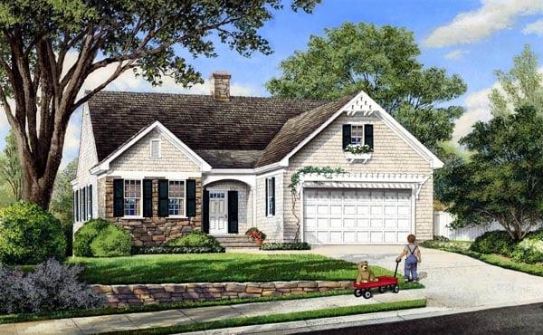 Cottage Craftsman Traditional House Plan 86100 Elevation