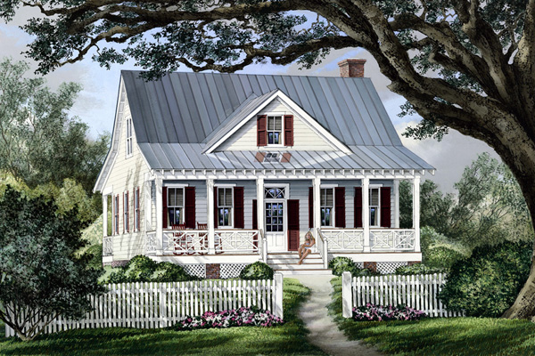 cottage country farmhouse house plan 86101 elevation - Farmhouse Plans