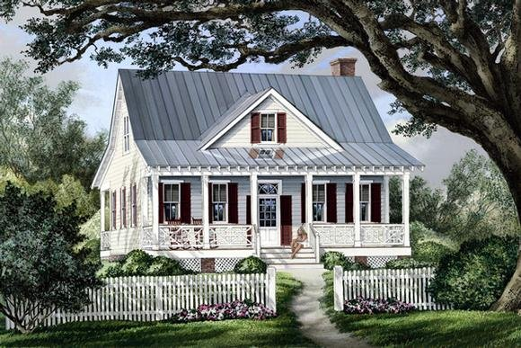 Cape Cod, Cottage, Country, Southern House Plan 86101 with 3 Beds, 3 Baths Elevation