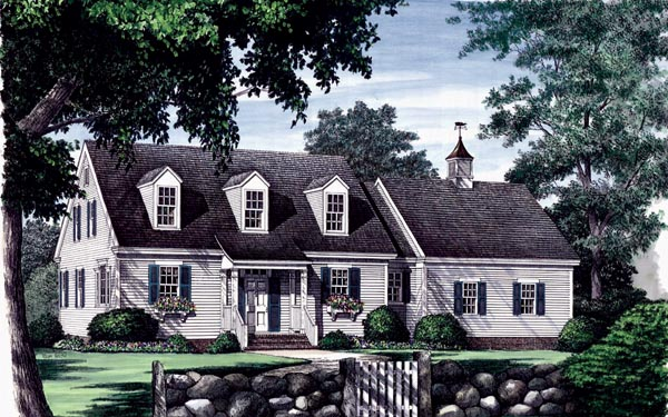 Cape Cod Traditional House Plan 86102 Elevation