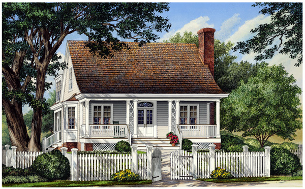 Cottage Country Farmhouse Traditional House Plan 86105 Elevation