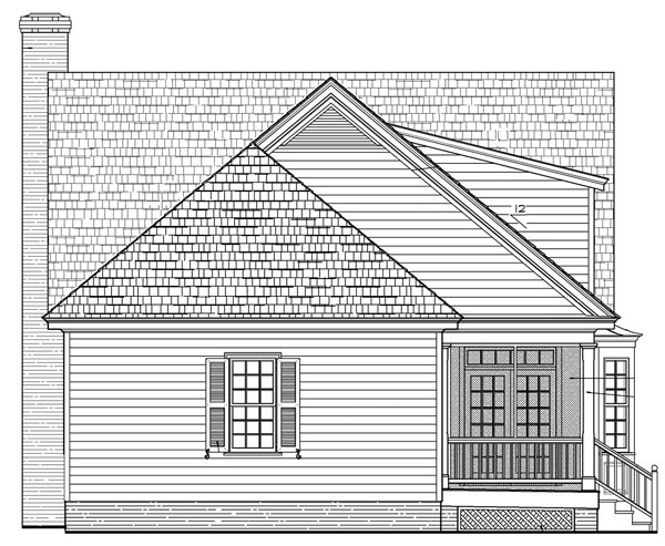 Cottage Country Farmhouse Traditional House Plan 86105 Rear Elevation