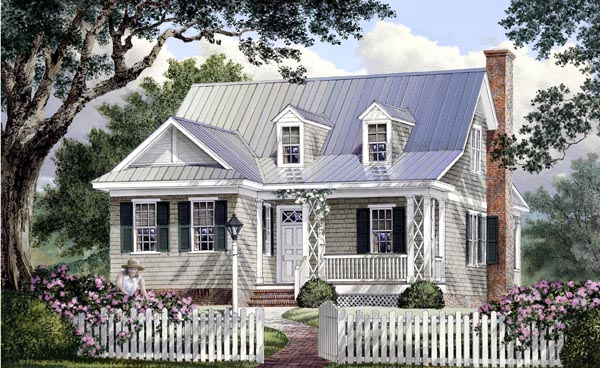 Cape Cod Cottage Country Southern House Plan 86106 Elevation
