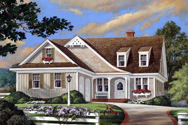 Cottage Country Craftsman European House Plan 86108 Elevation