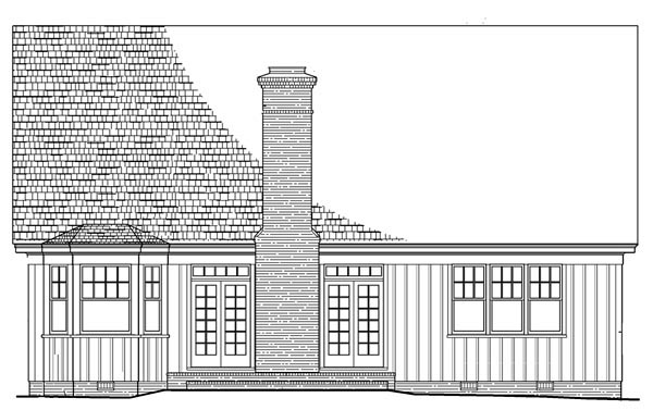 Cottage Country Craftsman European House Plan 86108 Rear Elevation