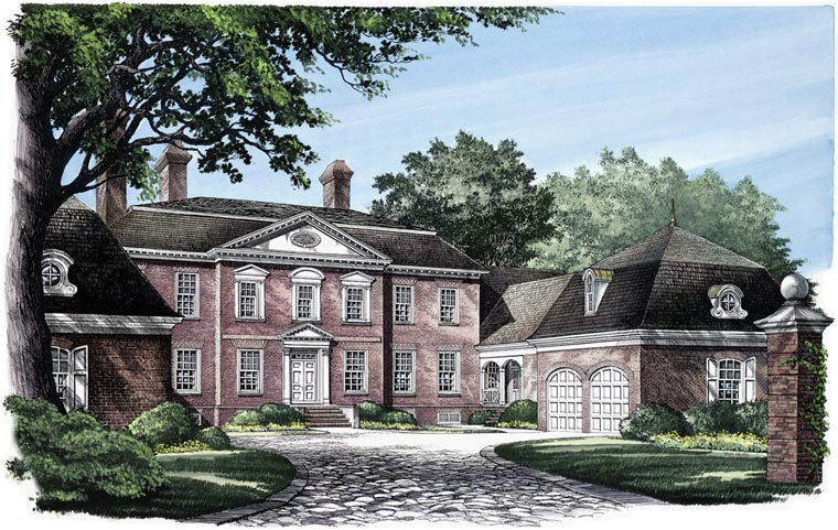 Colonial Traditional House Plan 86119 Elevation