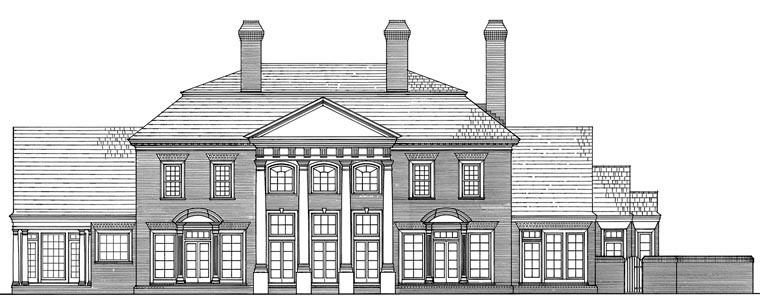 Colonial Traditional House Plan 86119 Rear Elevation