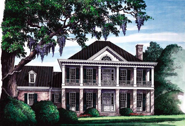 Colonial Plantation Southern House Plan 86120 Elevation