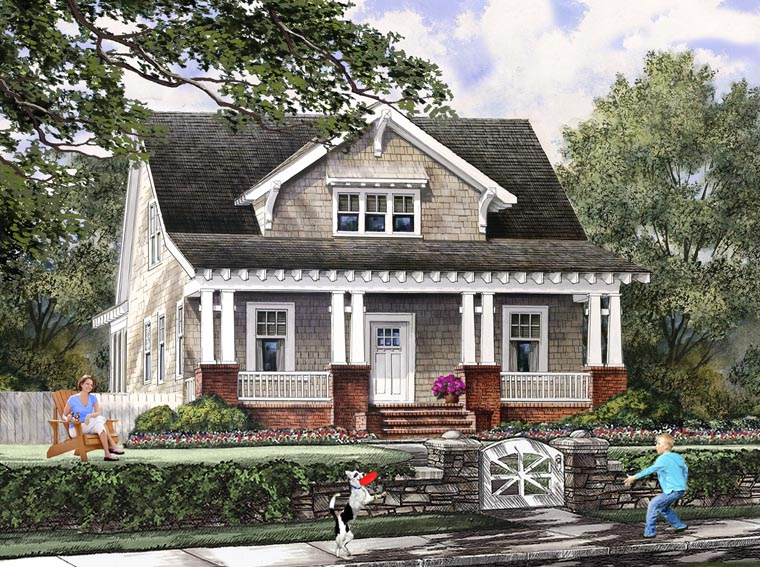 bungalow cottage craftsman farmhouse house plan 86121 elevation - Craftsman House Plans