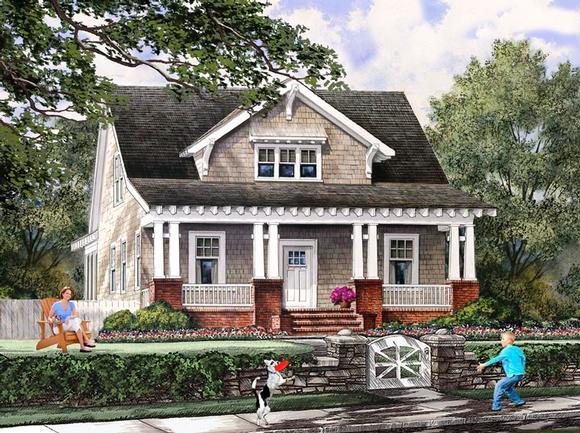 Bungalow, Cottage, Craftsman, Farmhouse House Plan 86121 with 4 Beds, 3 Baths, 2 Car Garage Elevation