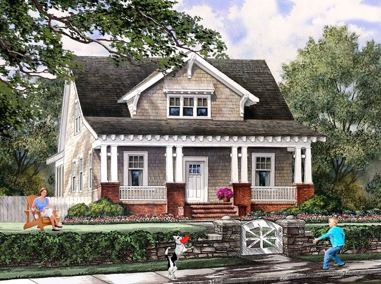 Great Bungalow Cottage Craftsman Farmhouse House Plan 86121 Elevation Ideas