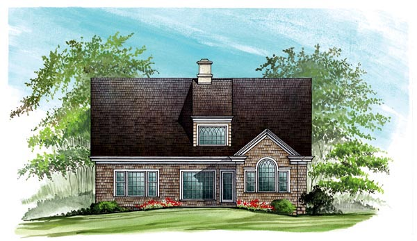Cottage Country Craftsman European House Plan 86123 Rear Elevation