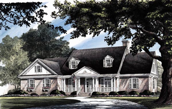 Colonial Country Southern House Plan 86127 Elevation