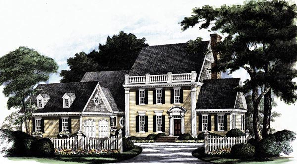 Colonial Southern House Plan 86128 Elevation