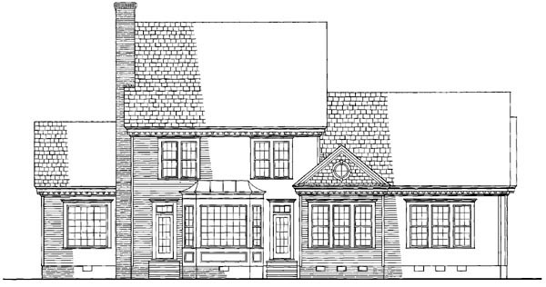 Colonial Southern House Plan 86128 Rear Elevation