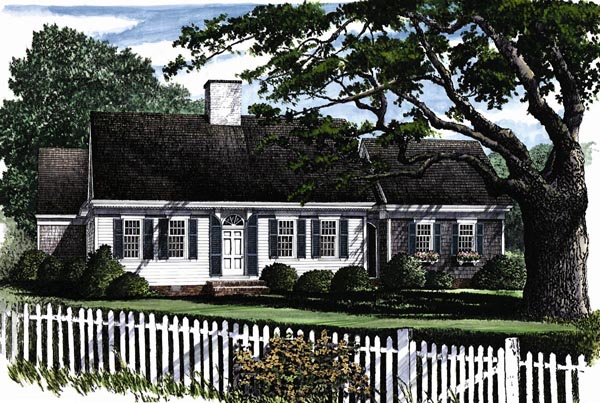 Cape Cod Traditional House Plan 86129 Elevation