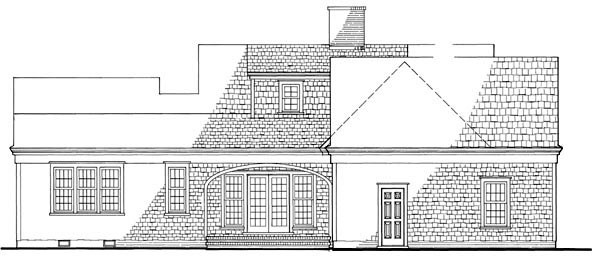 Cape Cod Traditional House Plan 86129 Rear Elevation