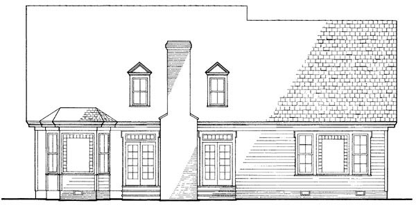 Country Farmhouse Victorian House Plan 86130 Rear Elevation