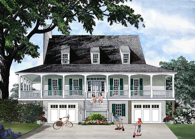 Country Farmhouse Southern Traditional House Plan 86134 Elevation