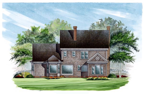 Colonial, Southern House Plan 86136 with 4 Beds, 4 Baths, 2 Car Garage Rear Elevation