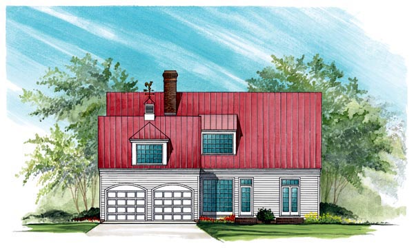 Colonial Cottage Country Southern House Plan 86145 Rear Elevation